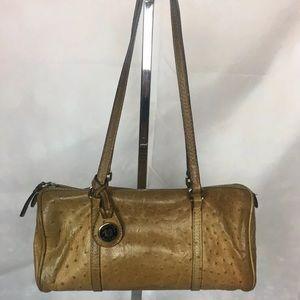 Vintage Dooney & Bourke Leather Barrel Bag